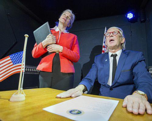 Nederland Hoogwoud 26 oktober 2016.Unieke Zaken. BUZZ IV – Naar De Maan is het vierde reisavontuur in ons vrachtwagentheater. Foto: Jan Boeve
